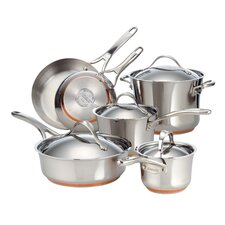 Nouvelle Copper Stainless Steel 10 Piece Cookware Set