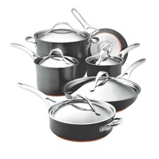 Nouvelle Hard-Anodized Nonstick 11 Piece Cookware Set