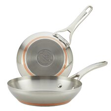 Nouvelle Copper Stainless Steel 2-Piece Copper-Core Skillet Set