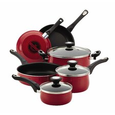 New Traditions Speckled Aluminum Nonstick 12 Piece Cookware Set