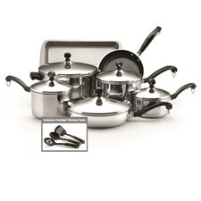 Classic 12 Piece Non-Stick Stainless Steel Cookware Set