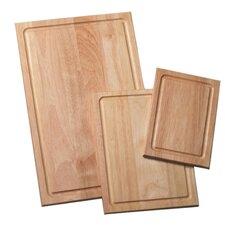 3 Piece Wood Cutting Board Set