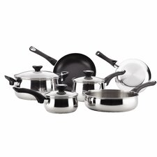 12 Piece Non-Stick Stainless Steel Cookware Set