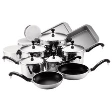 Classic Stainless Steel 17 Piece Cookware Set