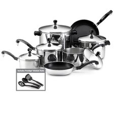 Classic Stainless Steel 15 Piece Cookware Set