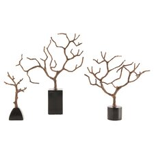 3 Piece Set Banyan Sculpture
