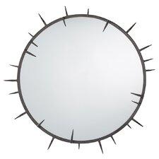 Spiked Round Mirror