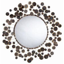 """48"""" H x 48"""" W Kensey Abstract Wall Mirror"""
