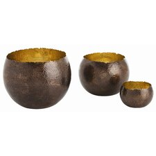 Alessandria Hammered Decorative Bowl (Set of 3)