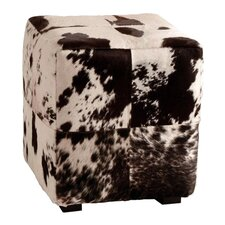 Leather Cube Ottoman