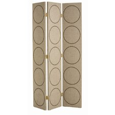 "84.5"" x 49.5"" Emory 3 Panel Room Divider"