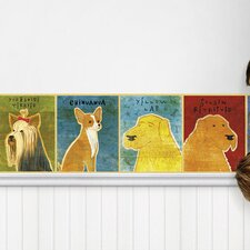 "Top Dog Mural 15' x 12"" Wildlife Border Wallpaper"