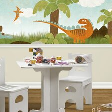 "Dino Might 18' x 18"" Wildlife Border Wallpaper"