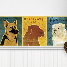 "Top Dog Mural 18' x 18"" Wildlife Border Wallpaper"