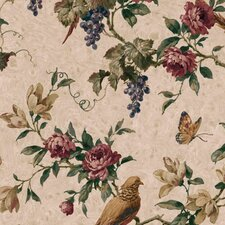 "Lodge Décor Pheasant Trail 33' x 20.5"" Floral and Botanical Wallpaper"