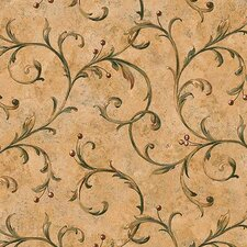 "Lodge Décor Berry Trail 33' x 20.5"" Scroll Wallpaper"