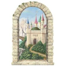 Enchanted Kingdom Mountainview Castle Window Wall Mural