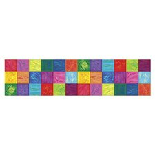 "Whimisical Bright Block 15' x 6"" Geometric Border Wallpaper"