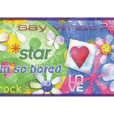 "Whimsical Children's Vol. 1 I'm So Bored 15' x 9"" Border Wallpaper"