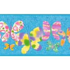 """Whimsical Children's Vol. 1 15' x 9"""" Butterfly Border Wallpaper"""