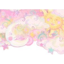 """Whimsical Children's Vol. 1 Celestial 15' x 10.5"""" Border Wallpaper"""