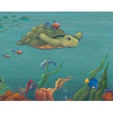 "Undersea Free Style 12' x 6"" Turtle Border Wallpaper"