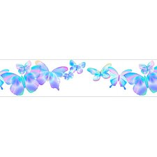"Fluttering Free Style 12' x 6"" Butterflies Border Wallpaper"