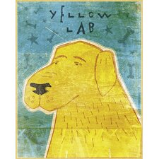 Top Dog Yellow Lab Wall Mural