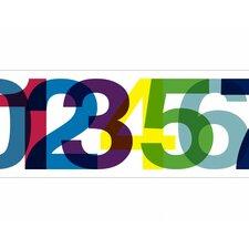 "Typeset 15' x 9"" Numbers Border Wallpaper"