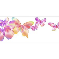 "Fluttering 15' x 9"" Butterfly Border Wallpaper"