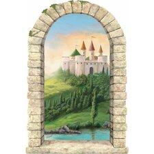 Castle on a Hill Window Wall Mural