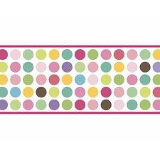 "Seeing Spots 15' x 9"" Polka Dot Border Wallpaper"