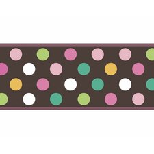 "Candy 15' x 9"" Polka Dot Border Wallpaper"