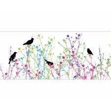 "Birdsong 15' x 9"" Botanical Border Wallpaper"