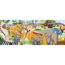 "3D Safari Mural 11' x 12"" Wildlife Border Wallpaper"