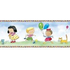 "Child's Play Mural 18' x 18"" Figural Border Wallpaper"