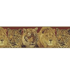 "Lodge Décor Portraits 15' x 9"" Wildlife Border Wallpaper"