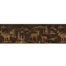 """Lodge Décor Tin Silhouettes 15' x 9"""" Wildlife Border Wallpaper"""