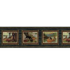 "Lodge Décor 15' x 7.25"" Adventure Scenic Border Wallpaper"