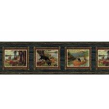 """Lodge Décor Adventure 15' x 7.25"""" Scenic Border Wallpaper"""