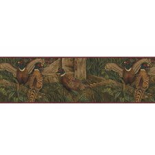"Lodge Décor 15' x 9"" Pheasant Wildlife Border Wallpaper"