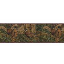"Lodge Décor Pheasant 15' x 9"" Wildlife Border Wallpaper"