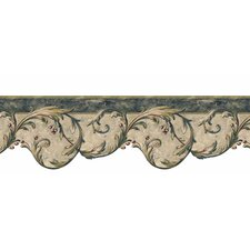 "Lodge Décor Berry 15' x 6.75"" Scroll Border Wallpaper"