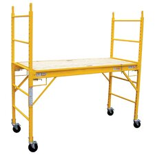 "Pro Series 6.25' H x 75.6"" W x 29.28"" D Steel Multi Purpose Scaffolding System with 1000 lb. Load Capacity Type 2A Duty Rating"