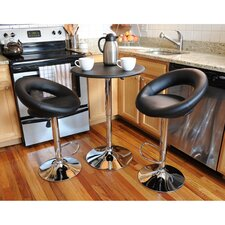 AmeriHome Classic Relaxed 3 Piece Pub Table Set