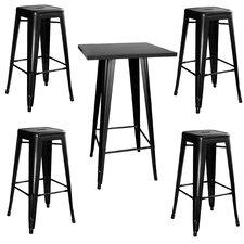 AmeriHome Loft 5 Piece Pub Table Set