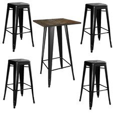 AmeriHome Loft 5 Piece Pub Table Set
