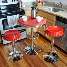 AmeriHome Retro Soda Cap 3 Piece Pub Table Set