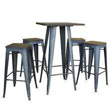 AmeriHome Loft 5 Piece Dining Set