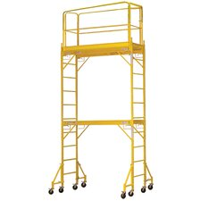 """Pro Series 14.83' H x 72"""" W x 53.28'' D Steel Wide Interior Tower Scaffolding System with 375 lb. Load Capacity Type 2A Duty Rating"""
